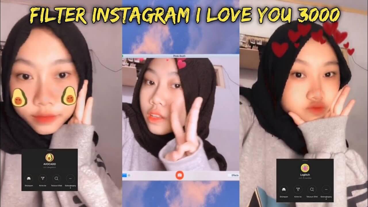 Filter IG I Love You 3000
