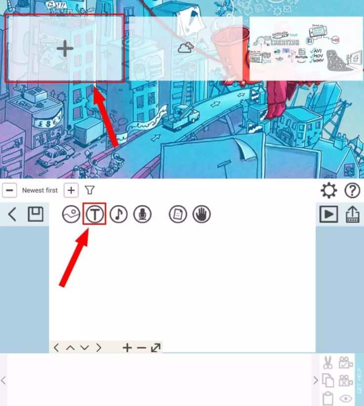 Kemudian-tap-pada-ikon-T-untuk-menambahkan-tulisan-atau-teks-pada-video-yang-akan-dibuat