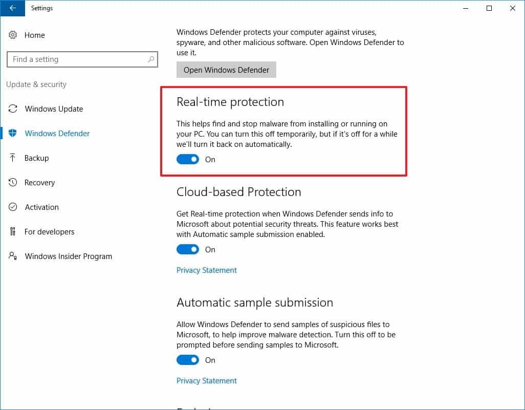 Klik-Windows-Defender-lalu-aktifkan-Real-time-protection