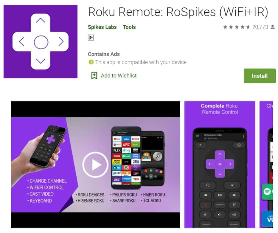 Roku-Remote-Control-RoSpikes