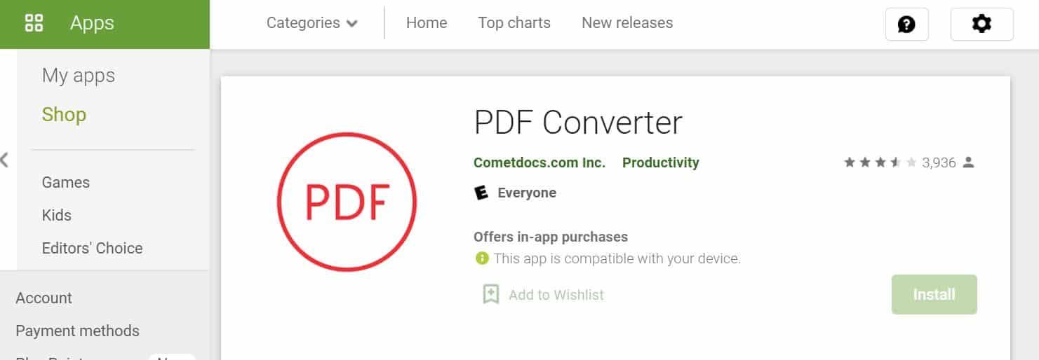 Unduh-terlebih-dahulu-aplikasi-PDF-Converter-di-laman-Google-Play-Store