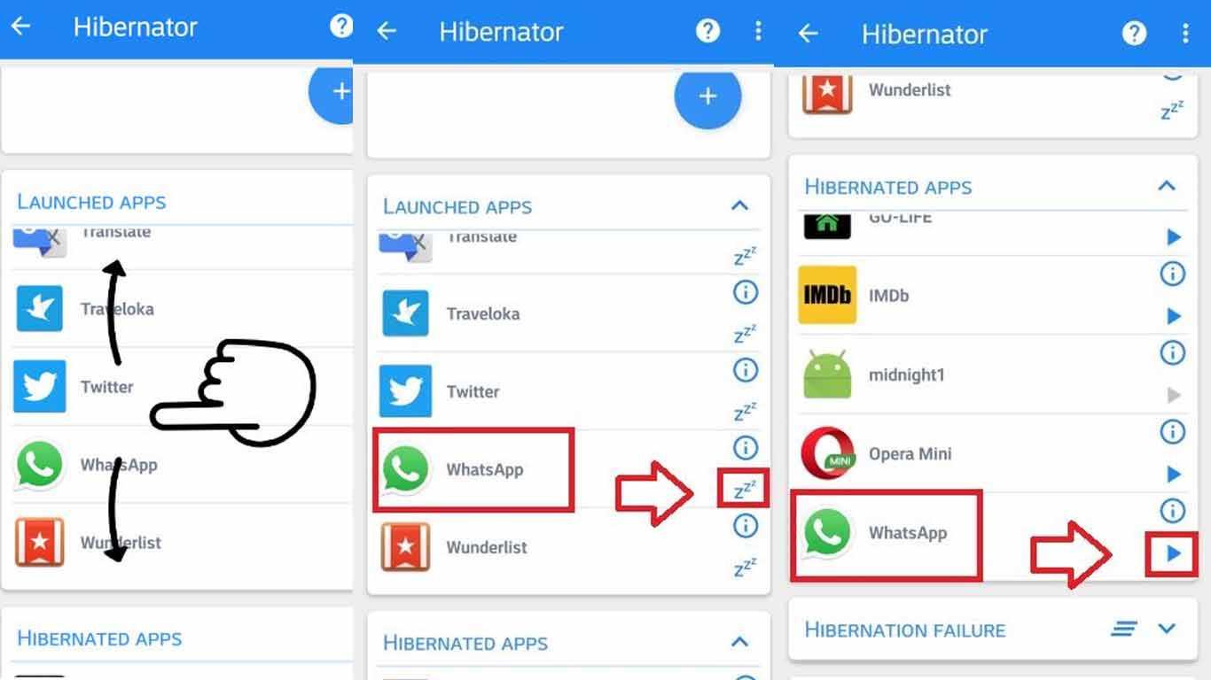 Cari-WhatsApp-di-daftar-tersebut-cara-menonaktifkan-WA-sementara-adalah-dengan-menekan-tombol-ZZZ-pada-sisi-sebelah-kanan-aplikasi