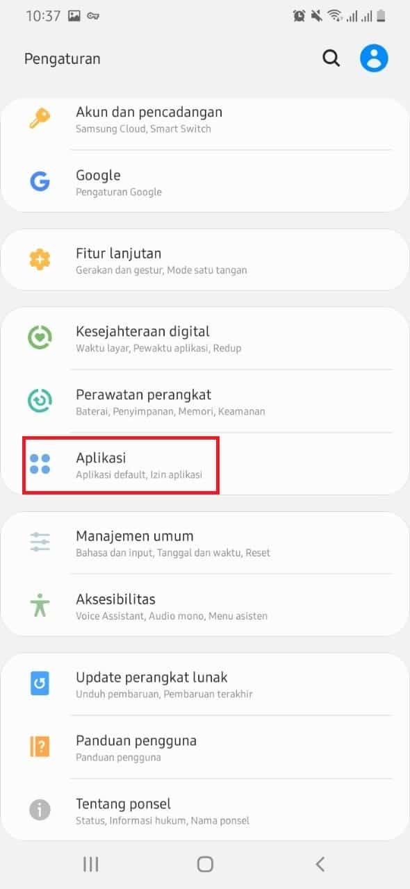 Masuk-ke-Pengaturan-masing-masing-kemudian-scroll-sampai-Anda-menemukan-menu-Aplikasi-atau-Apps